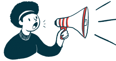 Cycle launches Sajazir for acute HAE attacks | Angioedema News | woman with megaphone announcement illustration